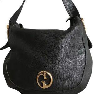 Authentic GUCCI 1973 Leather Shoulder Bag